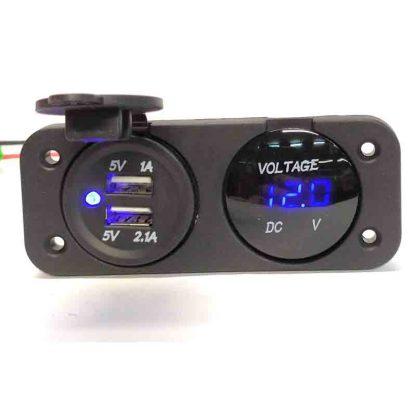 panel voltimetro + usb